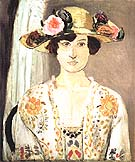 Woman in a Flowered Hat 1919 - Henri Matisse reproduction oil painting