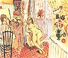 The Painter and His Model Studio Interior 1920 - Henri Matisse reproduction oil painting