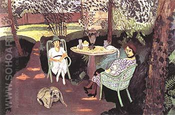 Tea in the Garden 1919 - Henri Matisse reproduction oil painting