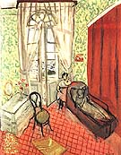Two Woman in an Interior 1920 - Henri Matisse reproduction oil painting