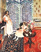 The Moorish Screen 1921 - Henri Matisse reproduction oil painting