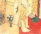 The Young Woman and the Vase of Flowers or The Pink Nude - Henri Matisse reproduction oil painting