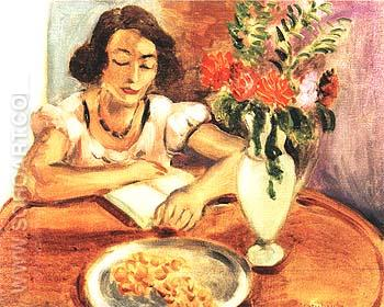 Woman Reading 1922 - Henri Matisse reproduction oil painting