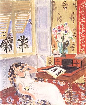 Siesta Interior at Nice 1922 - Henri Matisse reproduction oil painting