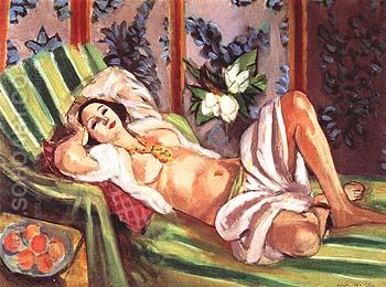 Odalisque with Magnolias 1923 - Henri Matisse reproduction oil painting