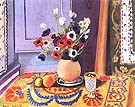 Anemones in an Earthenware Vase 1924 - Henri Matisse reproduction oil painting