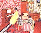 Pianist and Checker Players 1924 - Henri Matisse reproduction oil painting