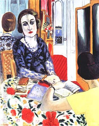 Portrait of Baroness Gourgaud 1924 - Henri Matisse reproduction oil painting