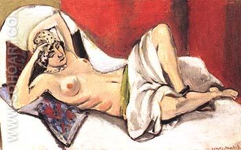 Reclining Nude with aDarpe - Henri Matisse reproduction oil painting