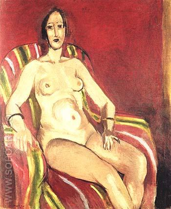 Seated Nude on a Red Backgroud 1925 - Henri Matisse reproduction oil painting