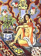 Decorative Figure on an Ornamantal Ground 1925 - Henri Matisse reproduction oil painting