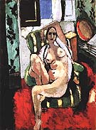 Odalisque with a Tambourine 1926 - Henri Matisse reproduction oil painting