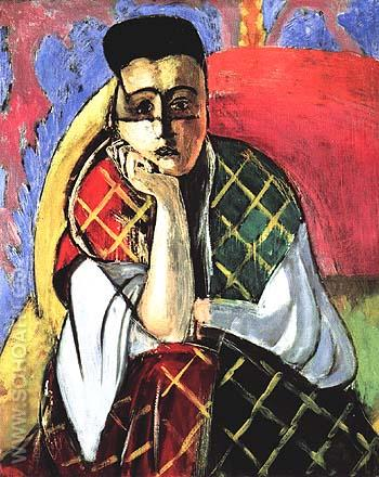 Woman with a Veil 1927 - Henri Matisse reproduction oil painting