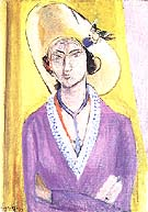 The Yellow Hat - Henri Matisse reproduction oil painting