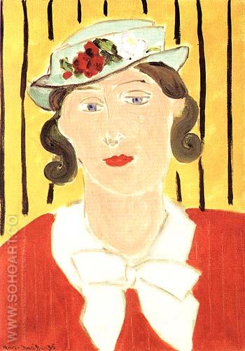 Hat with Roses 1935 - Henri Matisse reproduction oil painting