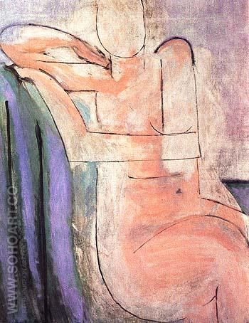 Seated Pink Nude 1935 - Henri Matisse reproduction oil painting