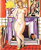 Nude beside a Fireplace 1936 - Henri Matisse reproduction oil painting