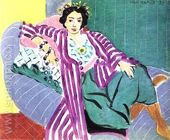 Small Odalisque in a Purple Robe 1937 - Henri Matisse reproduction oil painting