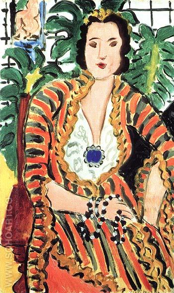 Portrait of Helene Galitzine 1937 - Henri Matisse reproduction oil painting
