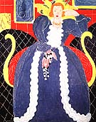 Woman in Bule / The Large Blue Robe and Mimosas 1937 - Henri Matisse reproduction oil painting