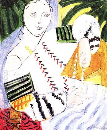 The Romanian Blouse with Green Sleeves 1937 - Henri Matisse reproduction oil painting