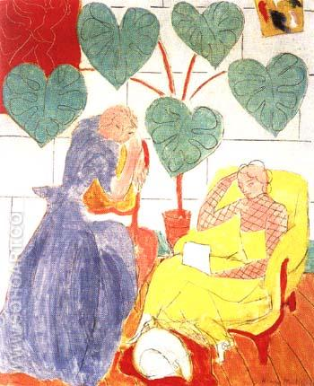 The Conservatory 1938 - Henri Matisse reproduction oil painting