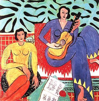 Music 1939 - Henri Matisse reproduction oil painting