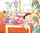 Still Lift with a Sleeping Woman 1939 - Henri Matisse reproduction oil painting