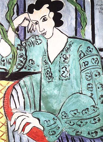 Green Rumanian Blouse 1939 - Henri Matisse reproduction oil painting