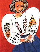 The Romanian Blouse 1940 - Henri Matisse reproduction oil painting