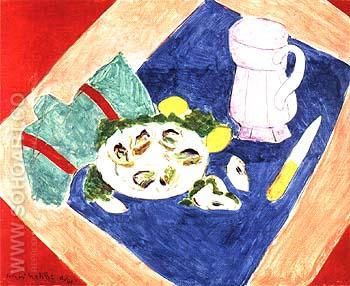Still Life with a Oysters 1940 - Henri Matisse reproduction oil painting
