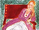 Seated Young Woman in a Persian Dress 1942 - Henri Matisse reproduction oil painting