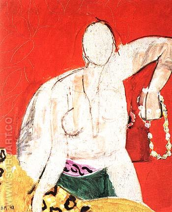 Woman with a Necklace 1942 - Henri Matisse reproduction oil painting