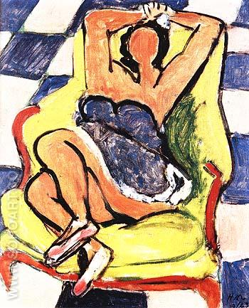 Dancer in Repose 1942 - Henri Matisse reproduction oil painting