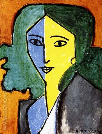 Portrait of Lydia Delectorskaya 1947 - Henri Matisse reproduction oil painting
