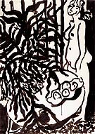 Composition with a Standing Nude and Black Fern 1948 - Henri Matisse
