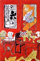 Large Red Interior 1948 - Henri Matisse reproduction oil painting