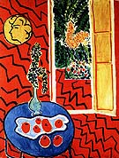 Red Interior Still Life on a Blue Table 1948 - Henri Matisse reproduction oil painting