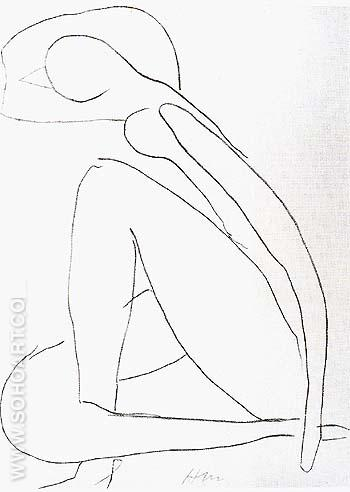 Sketch for the Blue Nude 1952 - Henri Matisse reproduction oil painting
