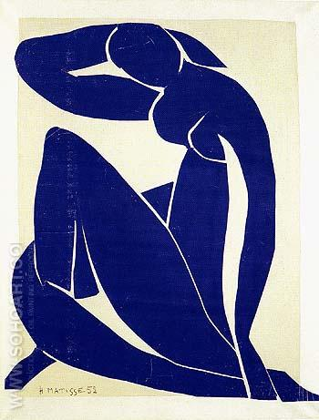 Blue Nude II 1952 - Henri Matisse reproduction oil painting