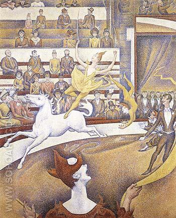 The Circus 1890 - Georges Seurat reproduction oil painting