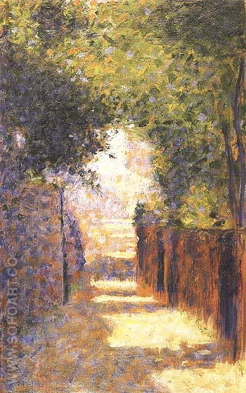 Rue St-Vincent, Montmartre, in Spring 1884 - Georges Seurat reproduction oil painting