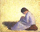Seated Woman 1883 - Georges Seurat reproduction oil painting
