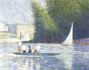 Bathers at Asnieres - Georges Seurat reproduction oil painting