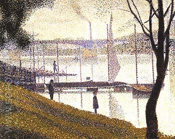 The Bridge at Courbevoie 1887 - Georges Seurat reproduction oil painting