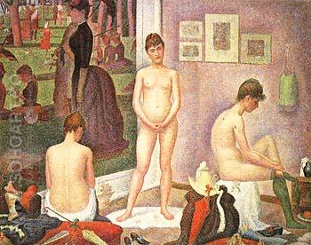 Les Poseuses 1886 - Georges Seurat reproduction oil painting