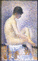 Seated Model, Side View 1887 - Georges Seurat reproduction oil painting