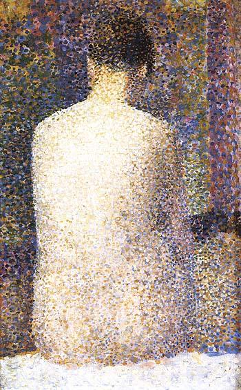 Model, Rear View 1887 - Georges Seurat reproduction oil painting