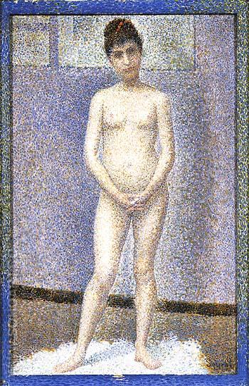Standing Model 1887 - Georges Seurat reproduction oil painting