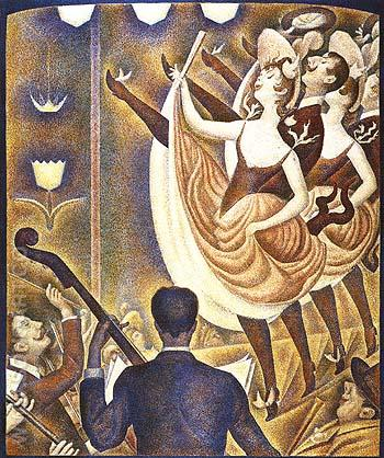 Le Chahut 1889 - Georges Seurat reproduction oil painting